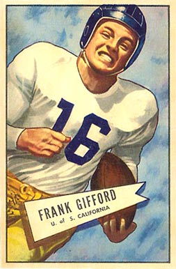 1952 Bowman Small Frank Gifford #16 Football Card