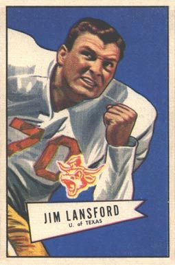 1952 Bowman Small Jim Lansford #144 Football Card
