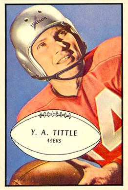 1953 Bowman Y.A. Tittle #56 Football Card