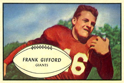 1953 Bowman Frank Gifford #43 Football Card