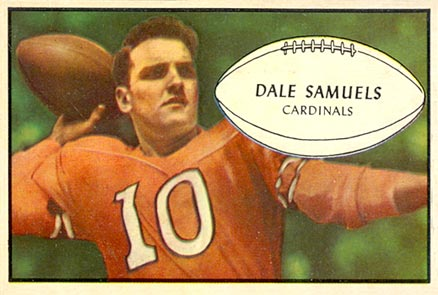 1953 Bowman Dale Samuels #33 Football Card