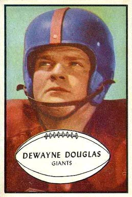 1953 Bowman Dewayne Douglas #65 Football Card