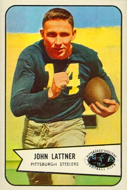1954 Bowman John Lattner #128 Football Card