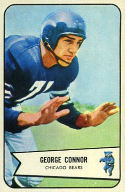 1954 Bowman George Connor #116 Football Card