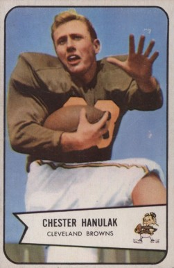 1954 Bowman Chet Hanulak #90 Football Card
