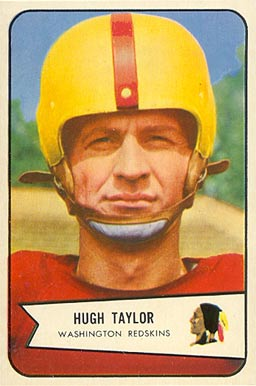 1954 Bowman Hugh Taylor #73 Football Card