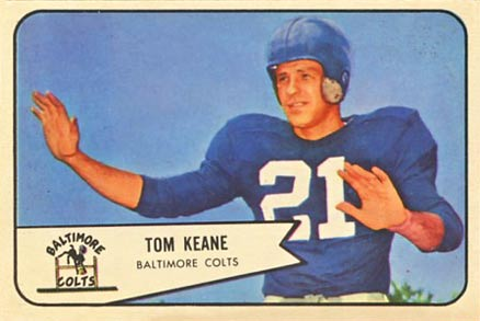 1954 Bowman Tom Keane #72 Football Card