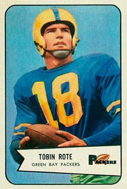 1954 Bowman Tobin Rote #70 Football Card