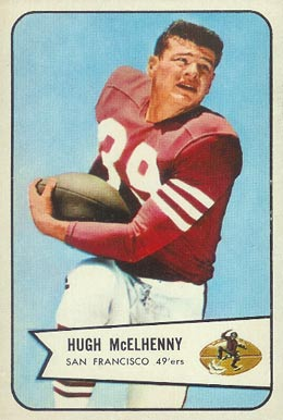 1954 Bowman Hugh McElhenny #54 Football Card