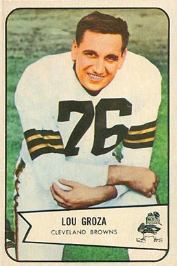 1954 Bowman Lou Groza #52 Football Card