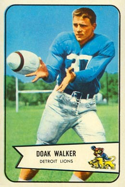 1954 Bowman Doak Walker #41 Football Card