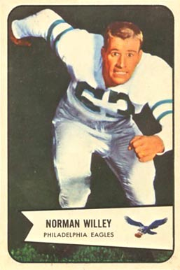 1954 Bowman Norm Willey #21 Football Card