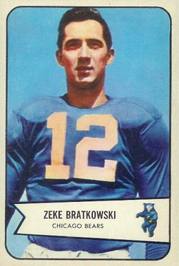 1954 Bowman Zeke Bratkowski #11 Football Card