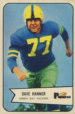 1954 Bowman Dave Hanner #88 Football Card