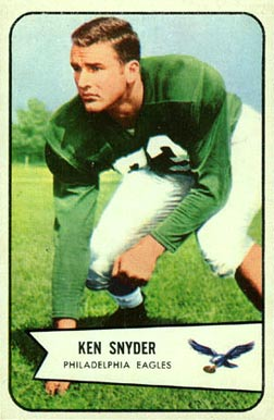 1954 Bowman Ken Snyder #69 Football Card
