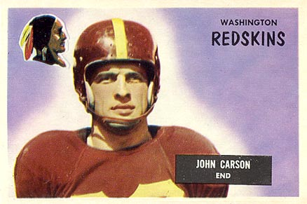 1955 Bowman John Carson #22 Football Card