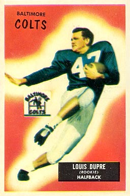 1955 Bowman Louis Dupre #160 Football Card