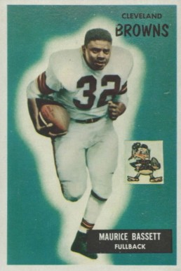 1955 Bowman Maurice Bassett #156 Football Card