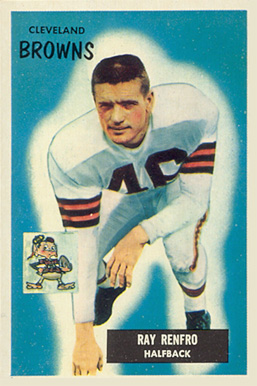 1955 Bowman Ray Renfro #153 Football Card