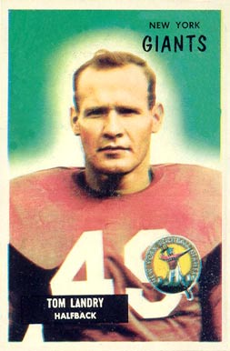 1955 Bowman Tom Landry #152 Football Card