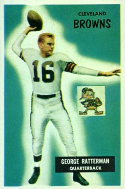1955 Bowman George Ratterman #150 Football Card