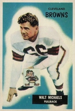 1955 Bowman Walt Michaels #146 Football Card