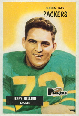 1955 Bowman Jerry Helluin #144 Football Card