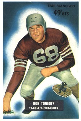 1955 Bowman Bob Toneff #143 Football Card
