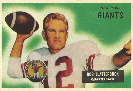 1955 Bowman Bobby Clatterbuck #141 Football Card