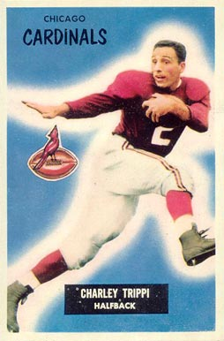 1955 Bowman Charley Trippi #139 Football Card
