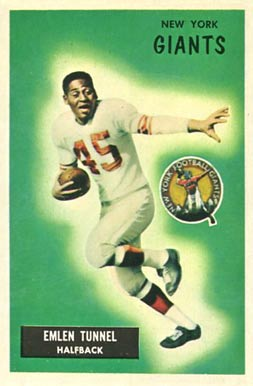 1955 Bowman Emlen Tunnell #136 Football Card