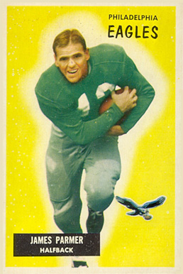 1955 Bowman James Parmer #135 Football Card