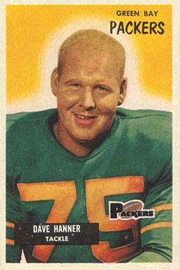 1955 Bowman Dave Hanner #131 Football Card