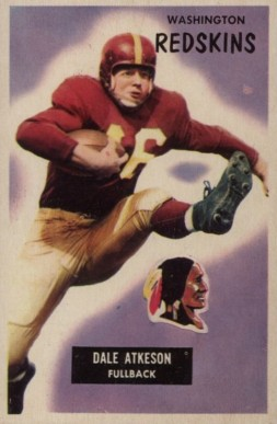 1955 Bowman Dale Atkeson #129 Football Card