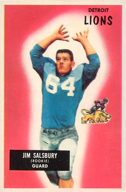 1955 Bowman Jim Salsbury #128 Football Card
