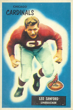 1955 Bowman Leo Sanford #123 Football Card
