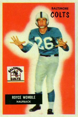 1955 Bowman Royce Womble #118 Football Card