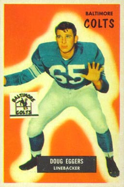 1955 Bowman Doug Eggers #114 Football Card