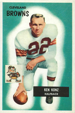1955 Bowman Kenny Konz #113 Football Card