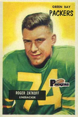 1955 Bowman Roger Zatoff #111 Football Card