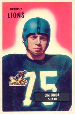 1955 Bowman Jim Ricca #109 Football Card