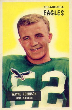 1955 Bowman Wayne Robinson #108 Football Card