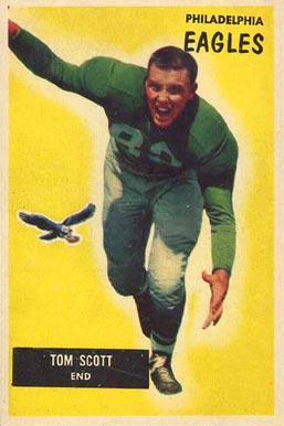 1955 Bowman Tom Scott #105 Football Card