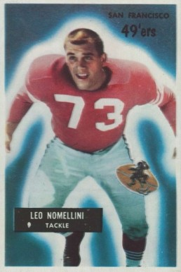 1955 Bowman Leo Nomellini #104 Football Card
