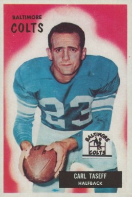 1955 Bowman Carl Taseff #103 Football Card