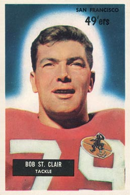 1955 Bowman Bob St. Clair #101 Football Card