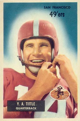 1955 Bowman Y.A. Tittle #72 Football Card
