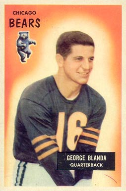 1955 Bowman George Blanda #62 Football Card