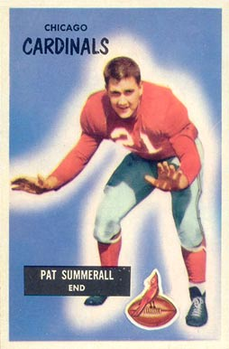 1955 Bowman Pat Summerall #52 Football Card
