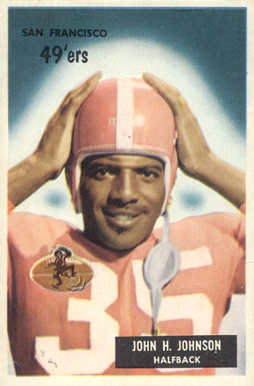 1955 Bowman John Henry Johnson #42 Football Card